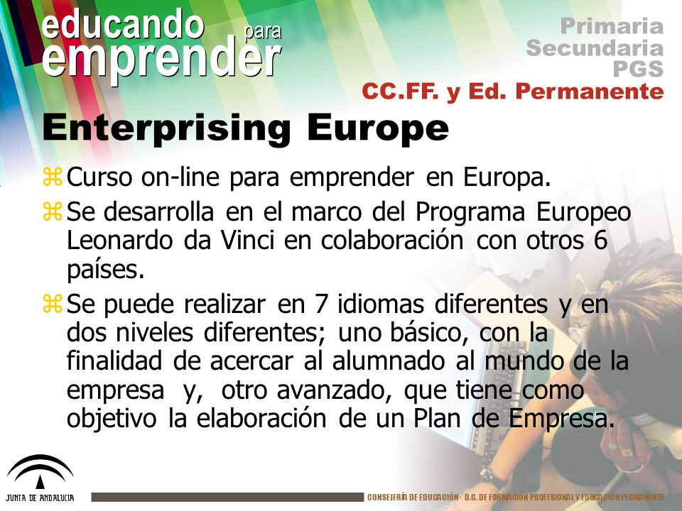 Enterprising Europe Curso on-line para emprender en Europa.