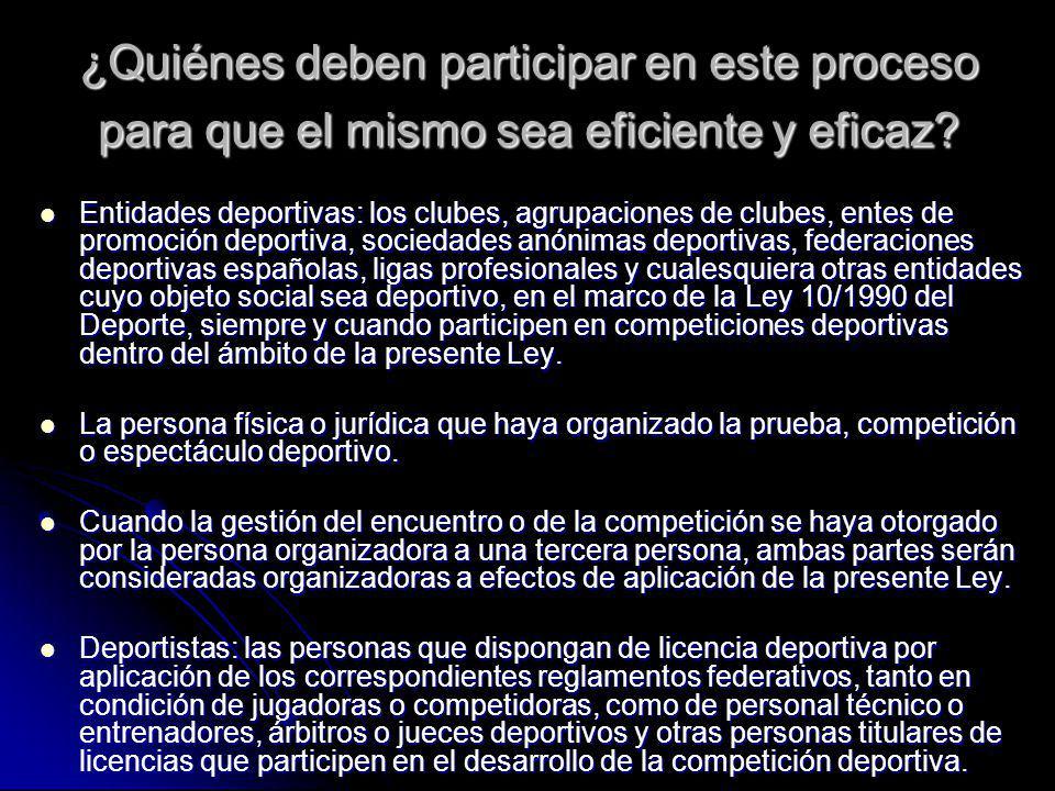 ¿Quiénes deben participar en este proceso para que el mismo sea eficiente y eficaz