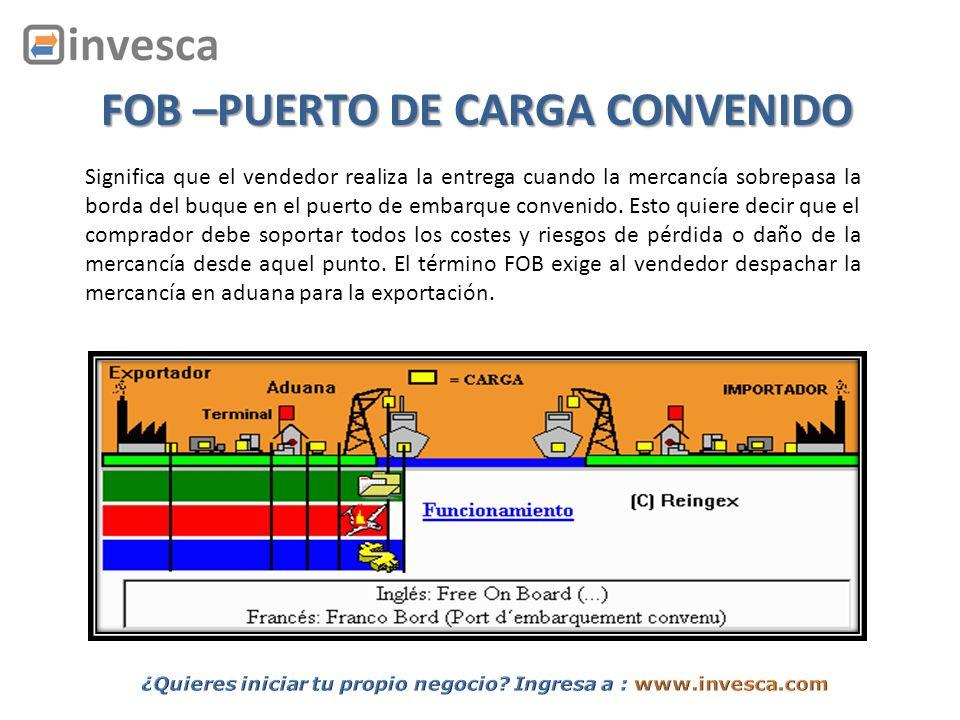 FOB –PUERTO DE CARGA CONVENIDO