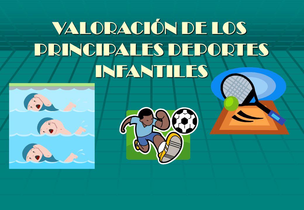 VALORACIÓN DE LOS PRINCIPALES DEPORTES INFANTILES