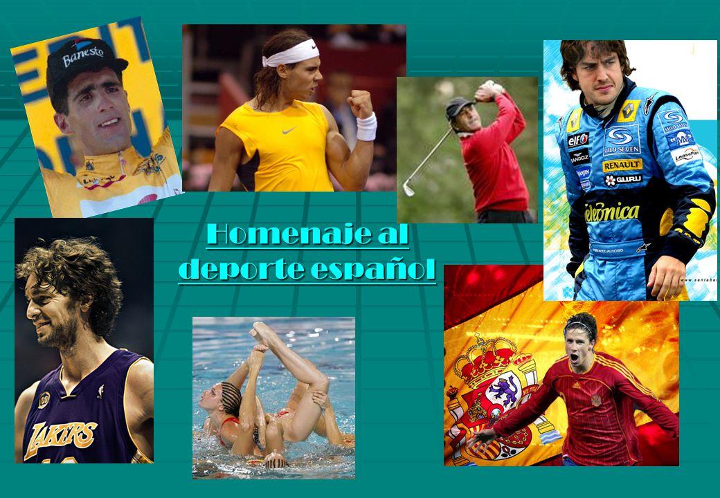 Homenaje al deporte español