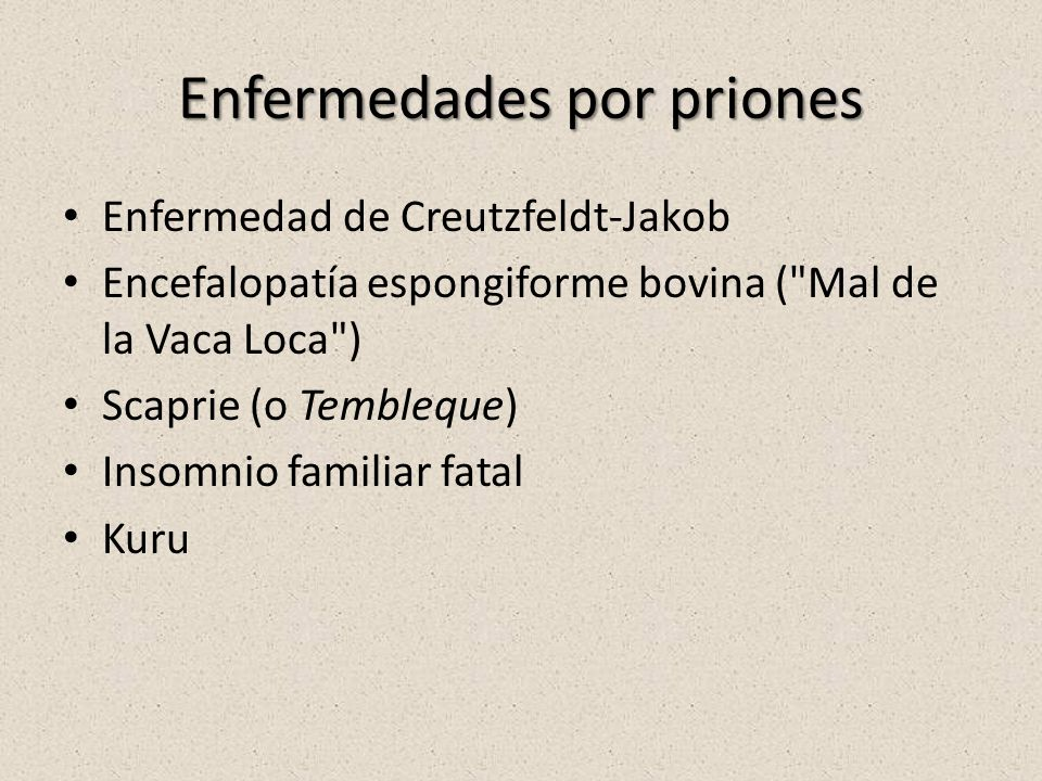 Enfermedades por priones
