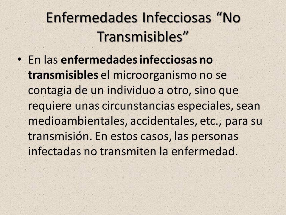 Enfermedades Infecciosas No Transmisibles