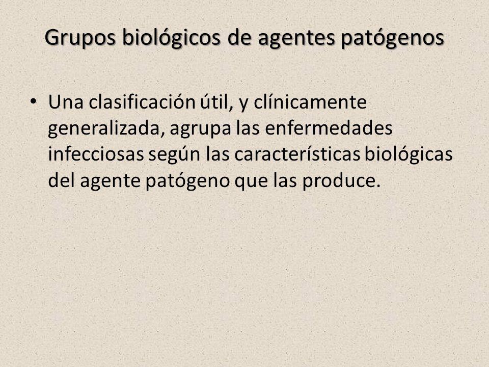 Grupos biológicos de agentes patógenos