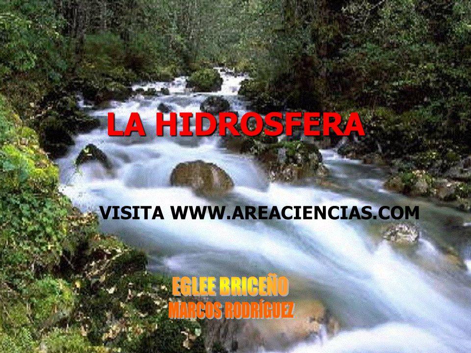 LA HIDROSFERA VISITA WWW.AREACIENCIAS.COM EGLEE BRICEÑO