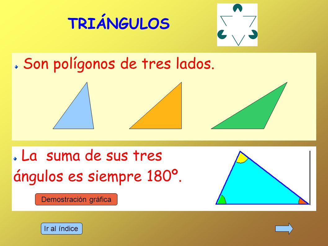 Son polígonos de tres lados.