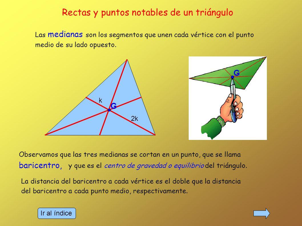 Rectas y puntos notables de un triángulo