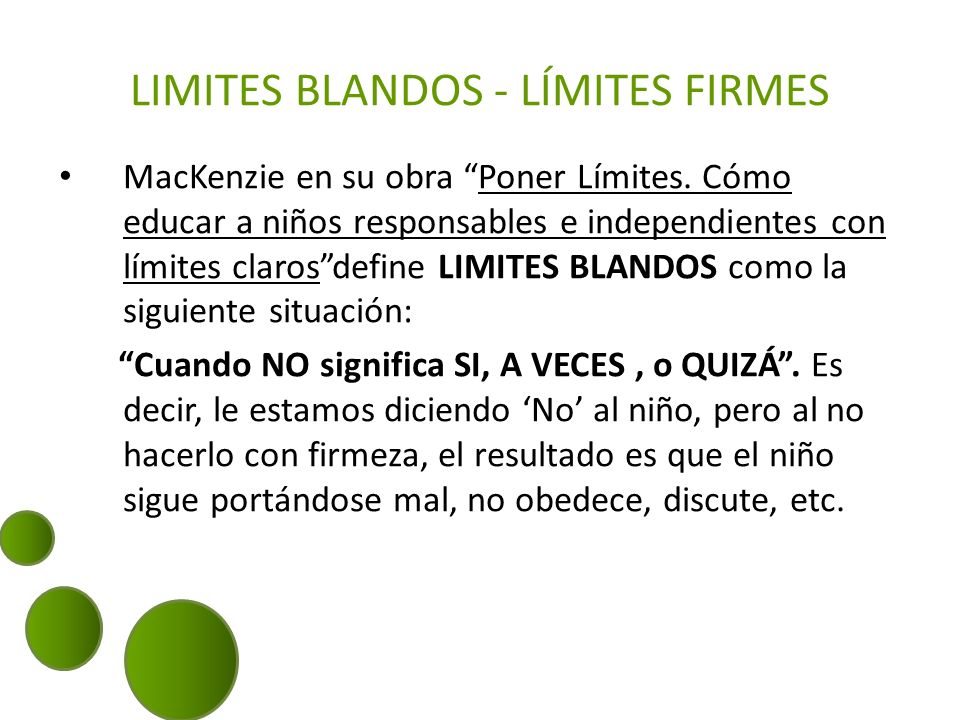 LIMITES BLANDOS - LÍMITES FIRMES