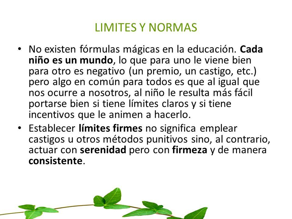 LIMITES Y NORMAS