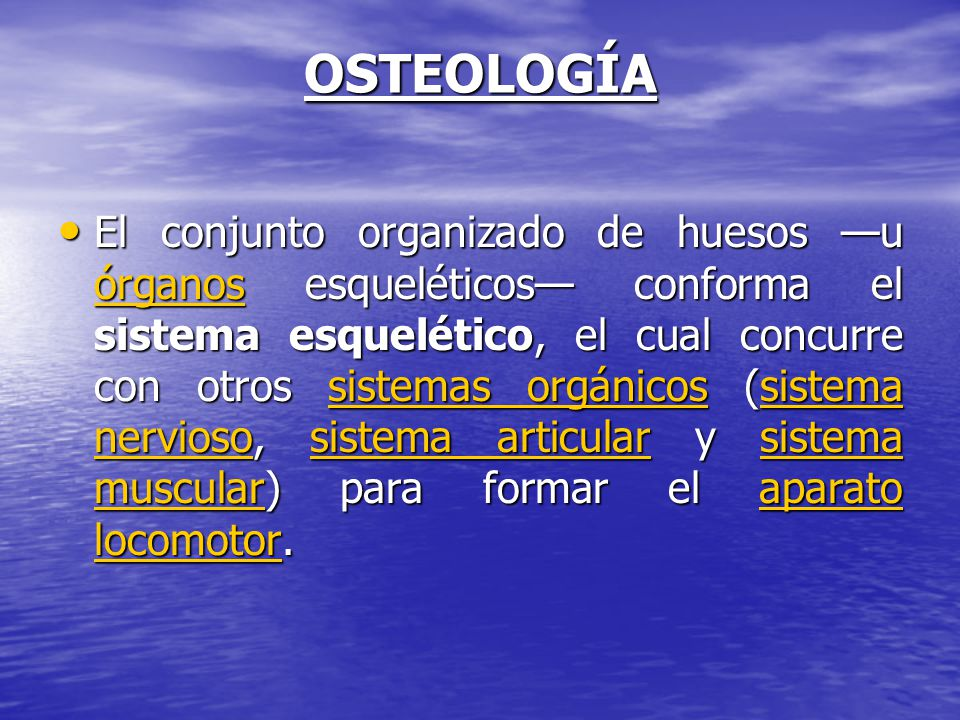 OSTEOLOGÍA
