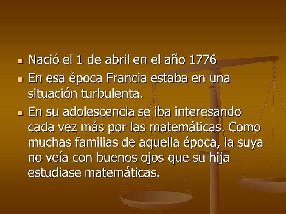 Nació el 1 de abril en el año 1776