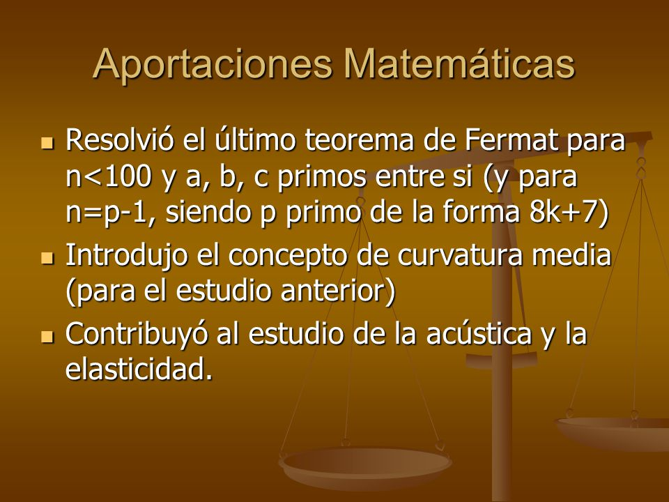 Aportaciones Matemáticas