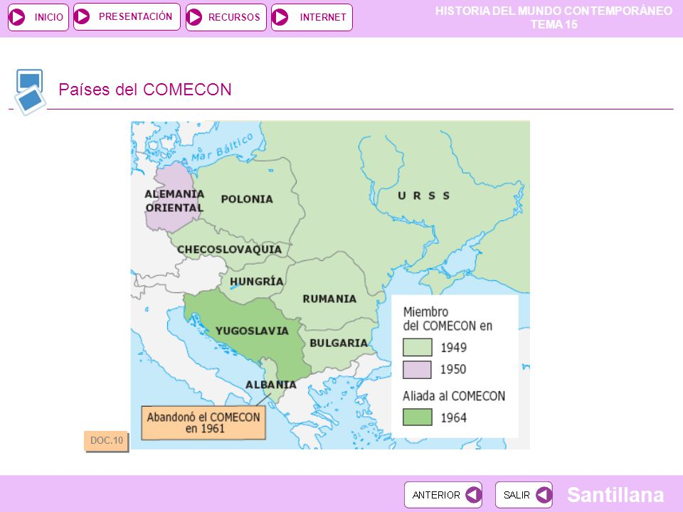 Países del COMECON DOC.10