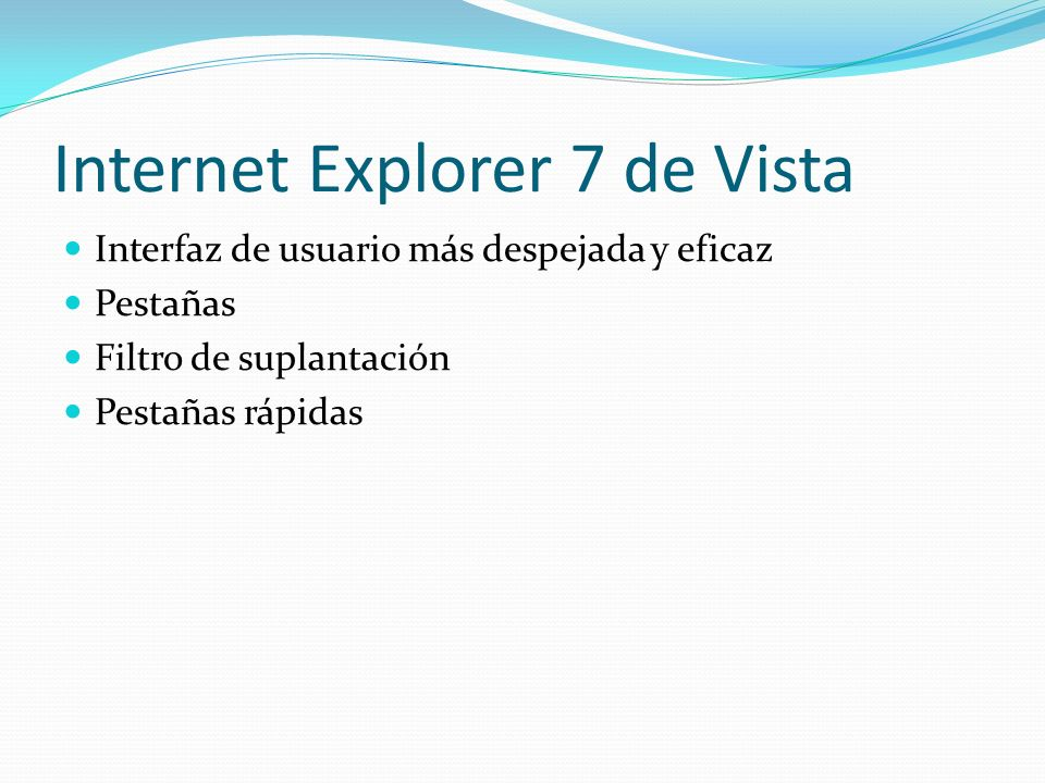 Internet Explorer 7 de Vista