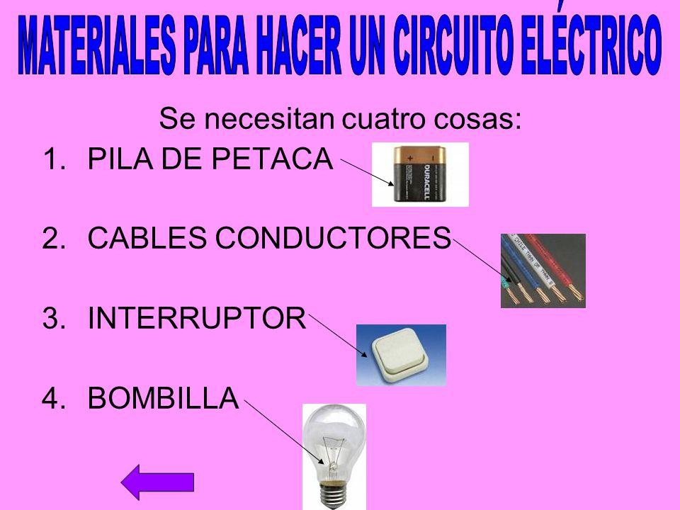 MATERIALES PARA HACER UN CIRCUITO ELÉCTRICO