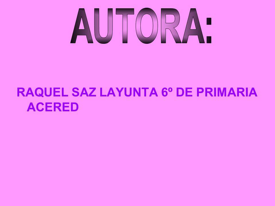 RAQUEL SAZ LAYUNTA 6º DE PRIMARIA ACERED