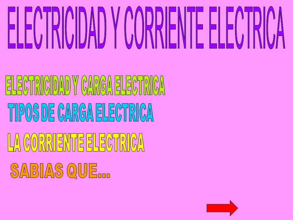 ELECTRICIDAD Y CARGA ELECTRICA