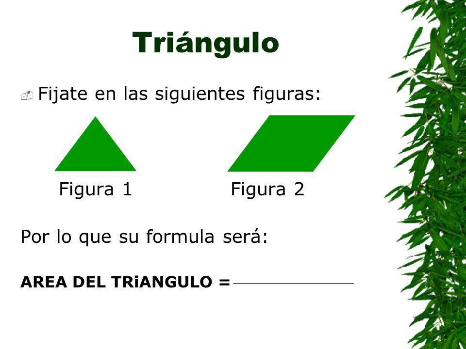 Triángulo Fijate en las siguientes figuras: Figura 1 Figura 2