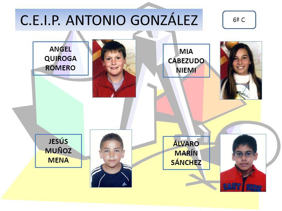 C.E.I.P. ANTONIO GONZÁLEZ ANGEL QUIROGA ROMERO MIA CABEZUDO NIEMI