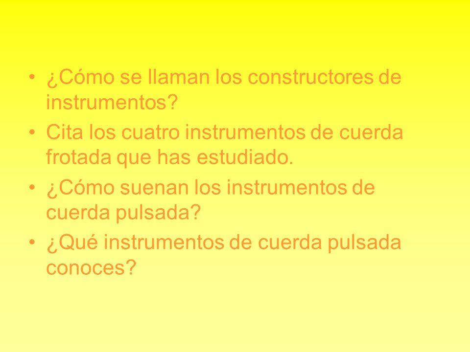 ¿Cómo se llaman los constructores de instrumentos