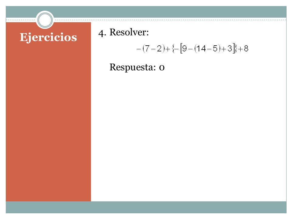 Resolver: Respuesta: 0