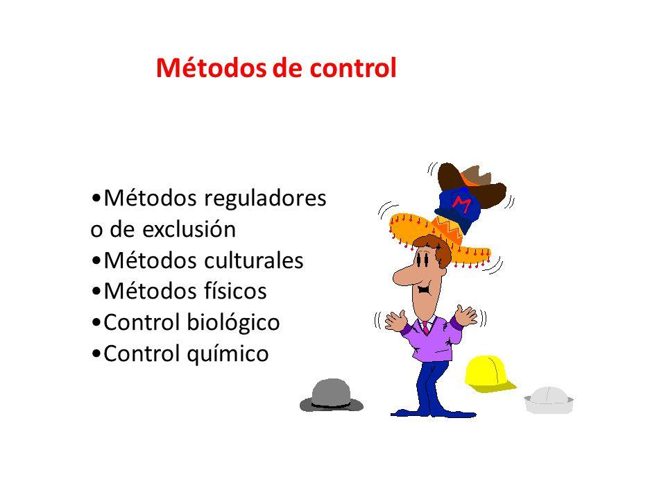 Métodos de control Métodos reguladores o de exclusión