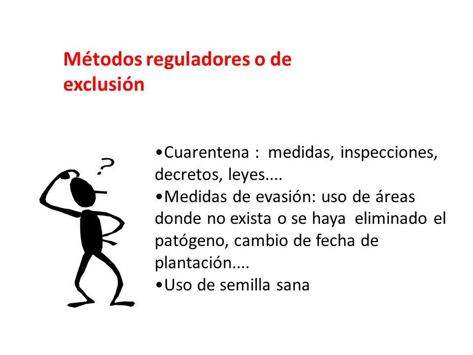 Métodos reguladores o de exclusión