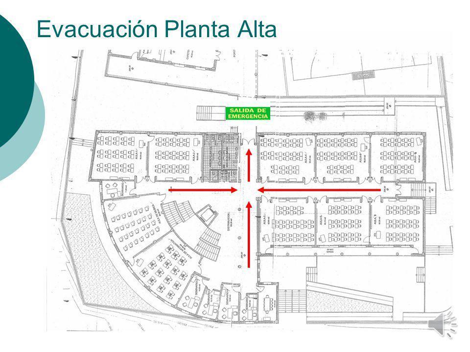 Evacuación Planta Alta