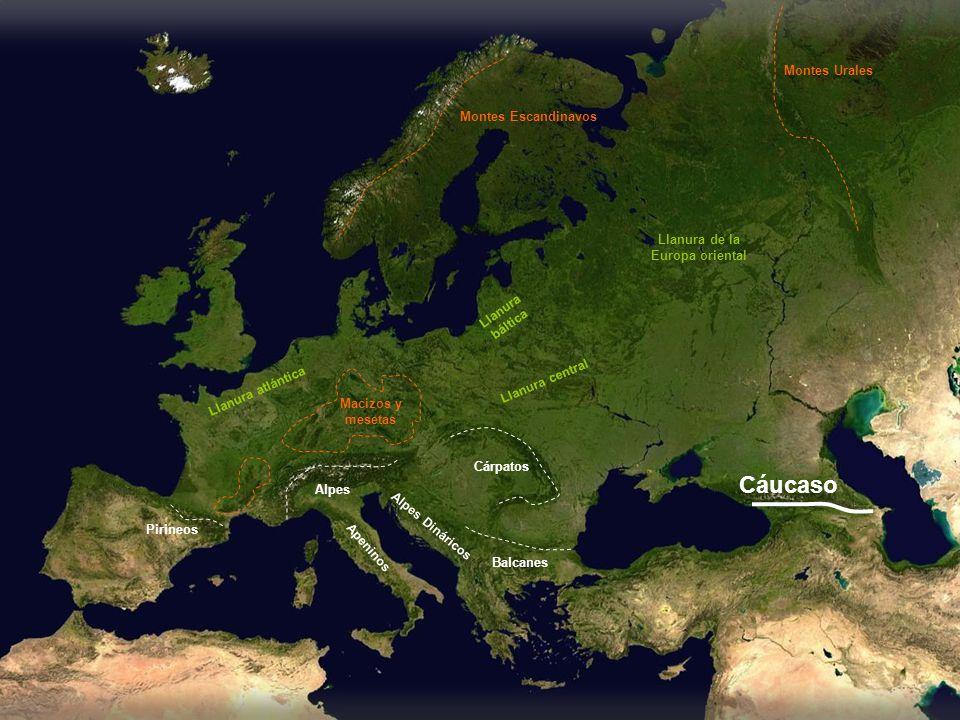 Cáucaso Montes Urales Montes Escandinavos Llanura de la