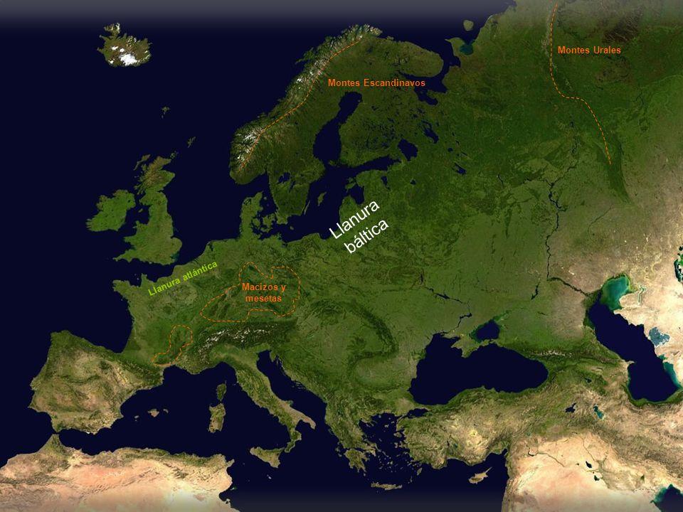 Llanura báltica Montes Urales Montes Escandinavos Llanura atlántica