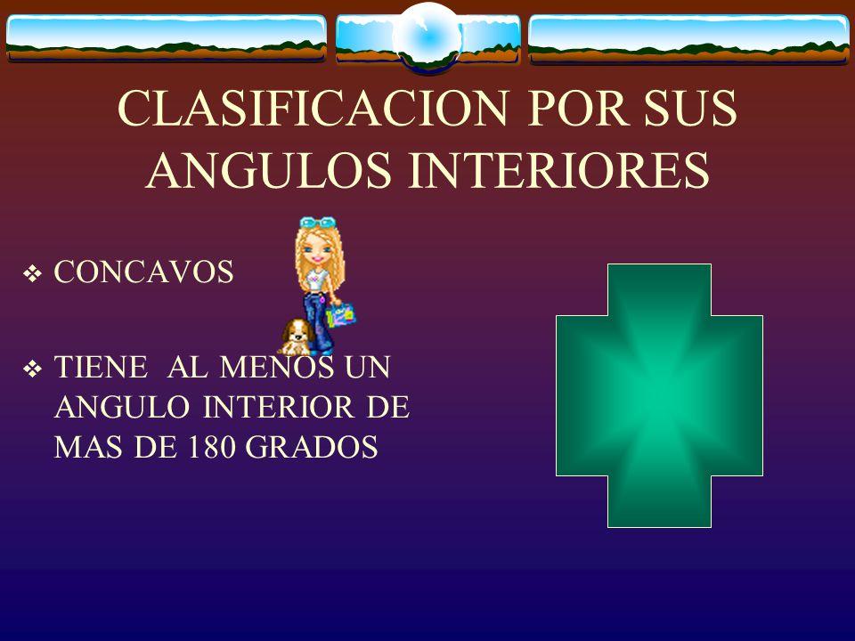 CLASIFICACION POR SUS ANGULOS INTERIORES