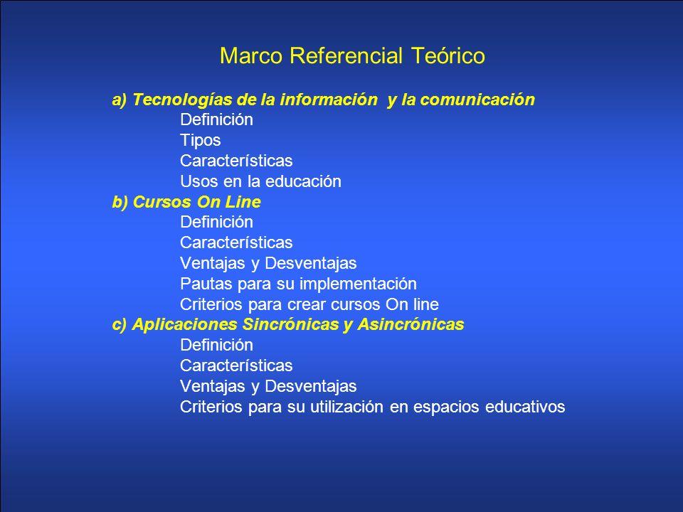 Marco Referencial Teórico