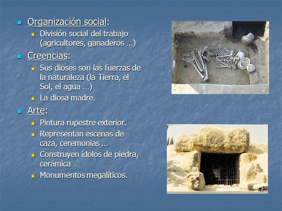 Organización social: Creencias: Arte:
