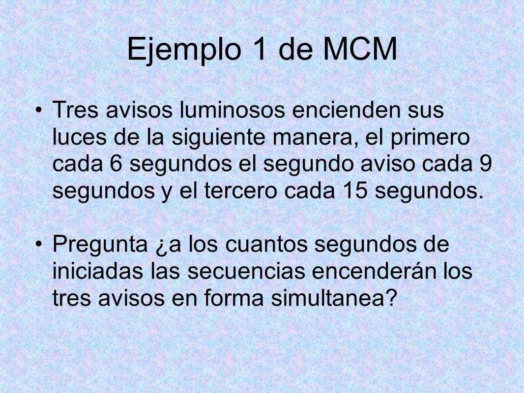 Ejemplo 1 de MCM