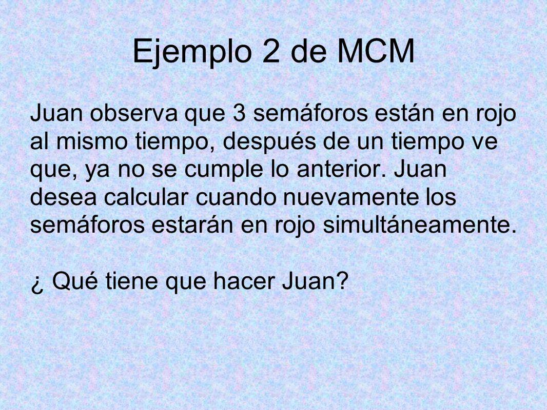 Ejemplo 2 de MCM