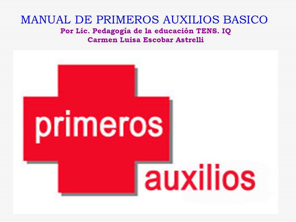MANUAL DE PRIMEROS AUXILIOS BASICO