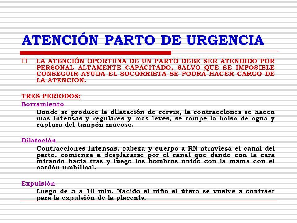 ATENCIÓN PARTO DE URGENCIA