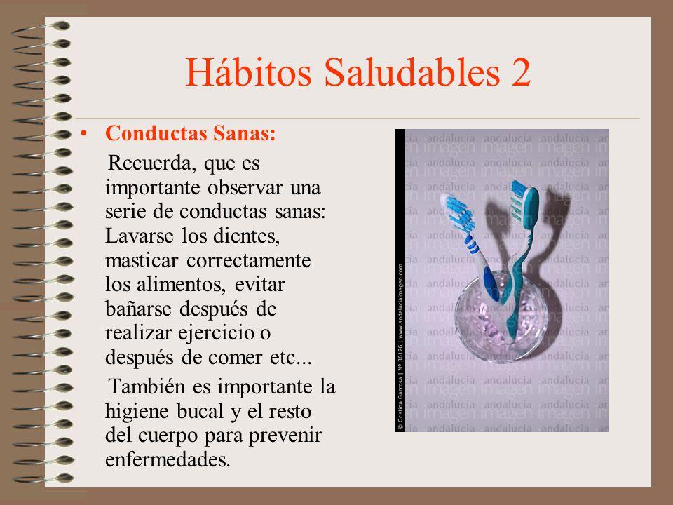 Hábitos Saludables 2 Conductas Sanas: