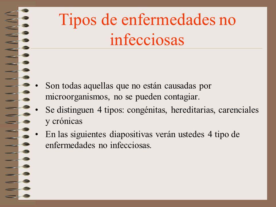 Tipos de enfermedades no infecciosas