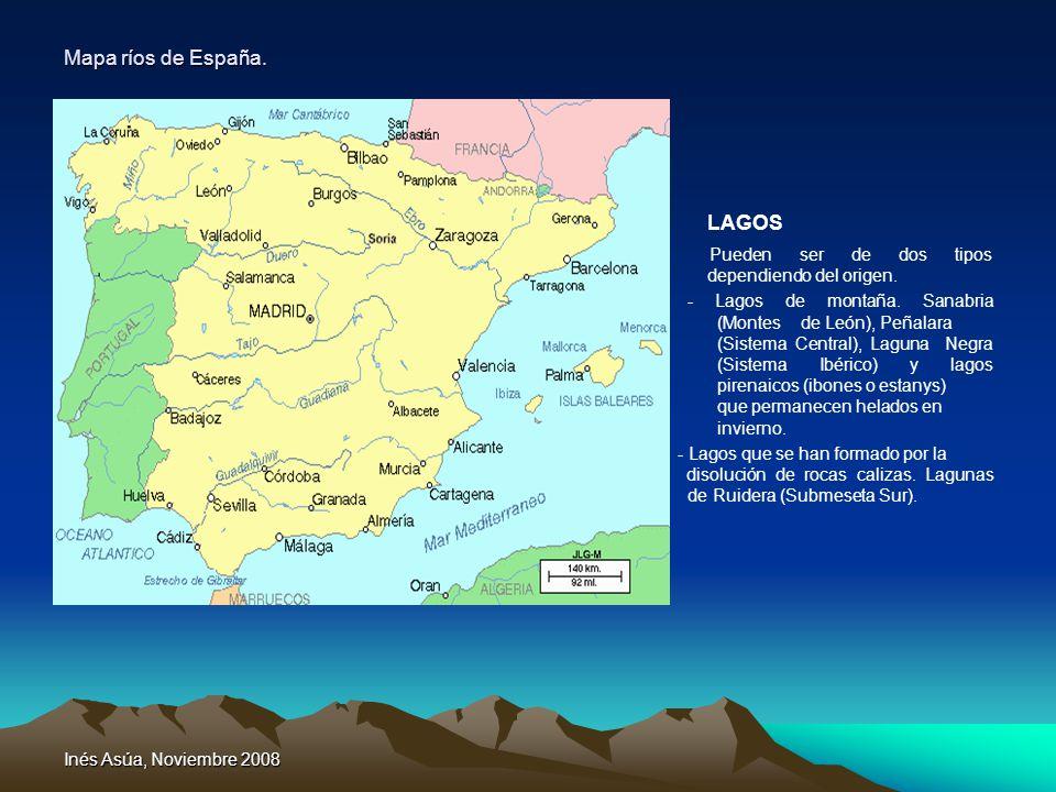 LAGOS Mapa ríos de España.