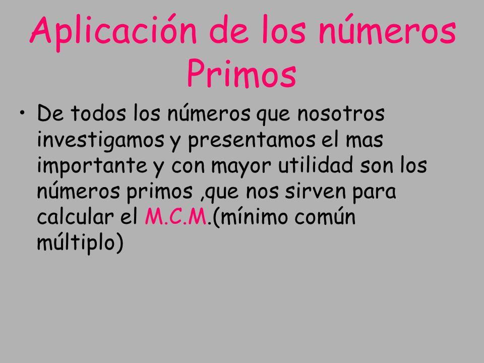 Aplicación de los números Primos