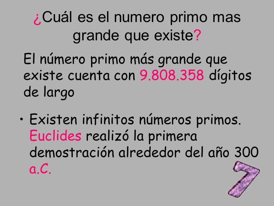 ¿Cuál es el numero primo mas grande que existe