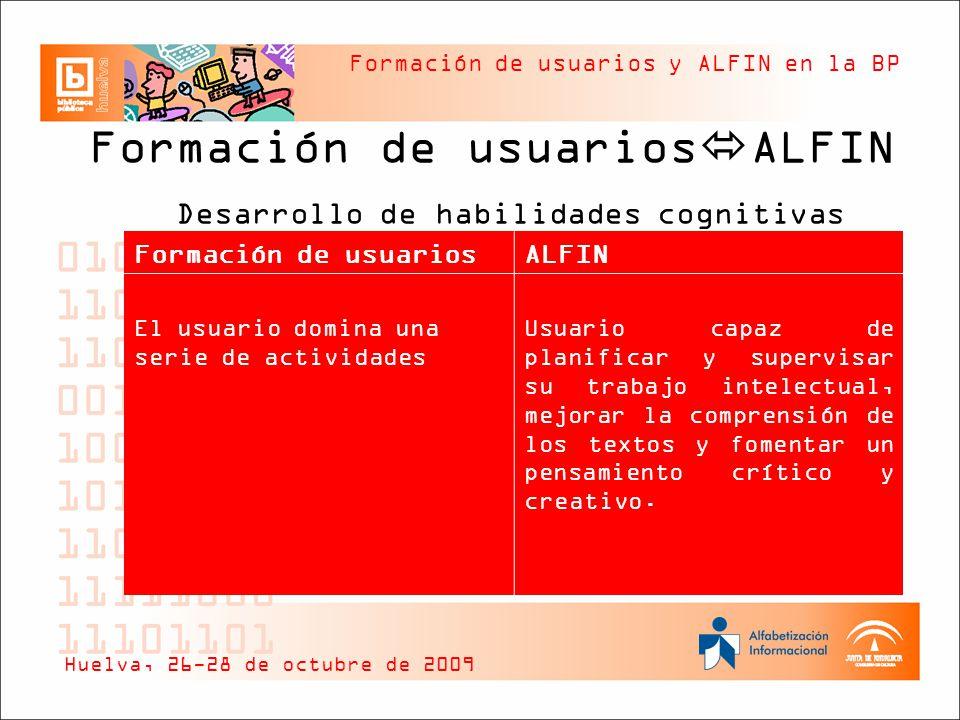 Formación de usuariosALFIN Desarrollo de habilidades cognitivas