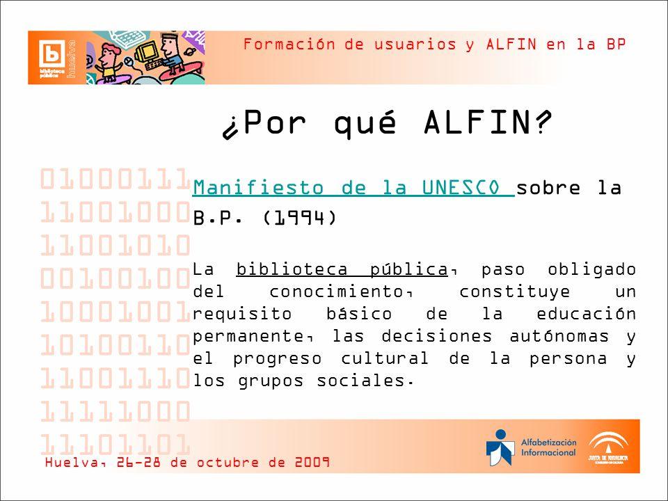Manifiesto de la UNESCO sobre la B.P. (1994)