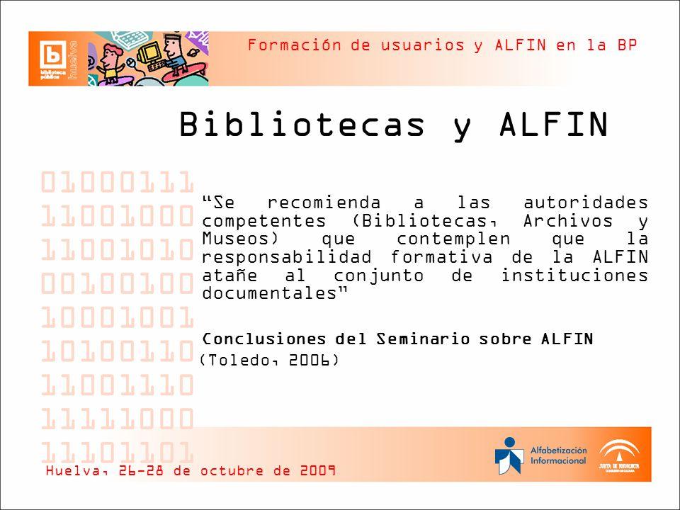 Bibliotecas y ALFIN