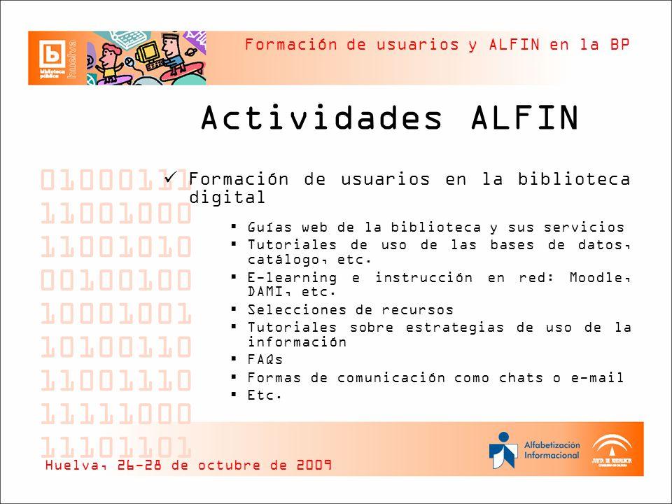 Actividades ALFIN Formación de usuarios en la biblioteca digital