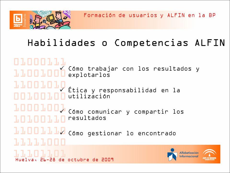 Habilidades o Competencias ALFIN