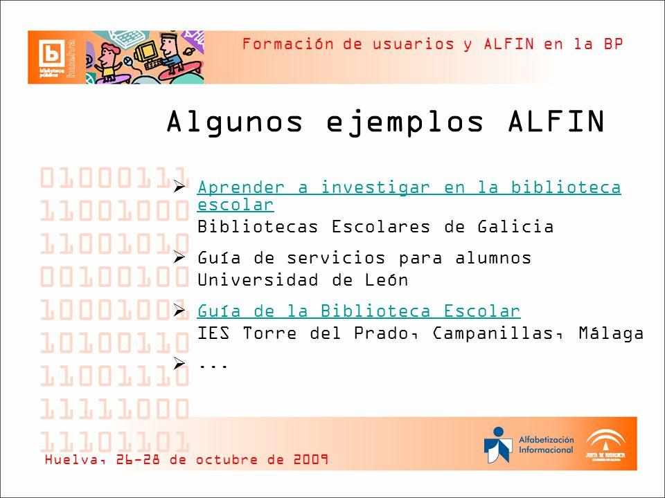 Algunos ejemplos ALFIN