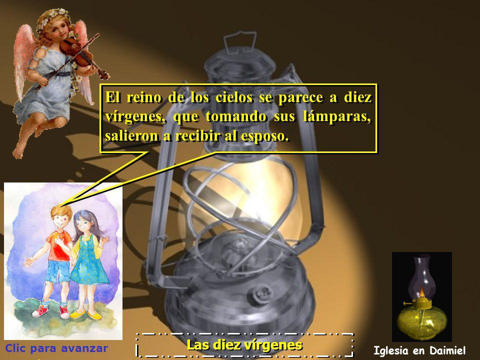 El reino de los cielos se parece a diez vírgenes, que tomando sus lámparas, salieron a recibir al esposo.