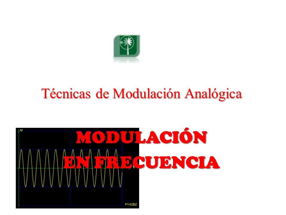 Técnicas de Modulación Analógica MODULACIÓN EN FRECUENCIA
